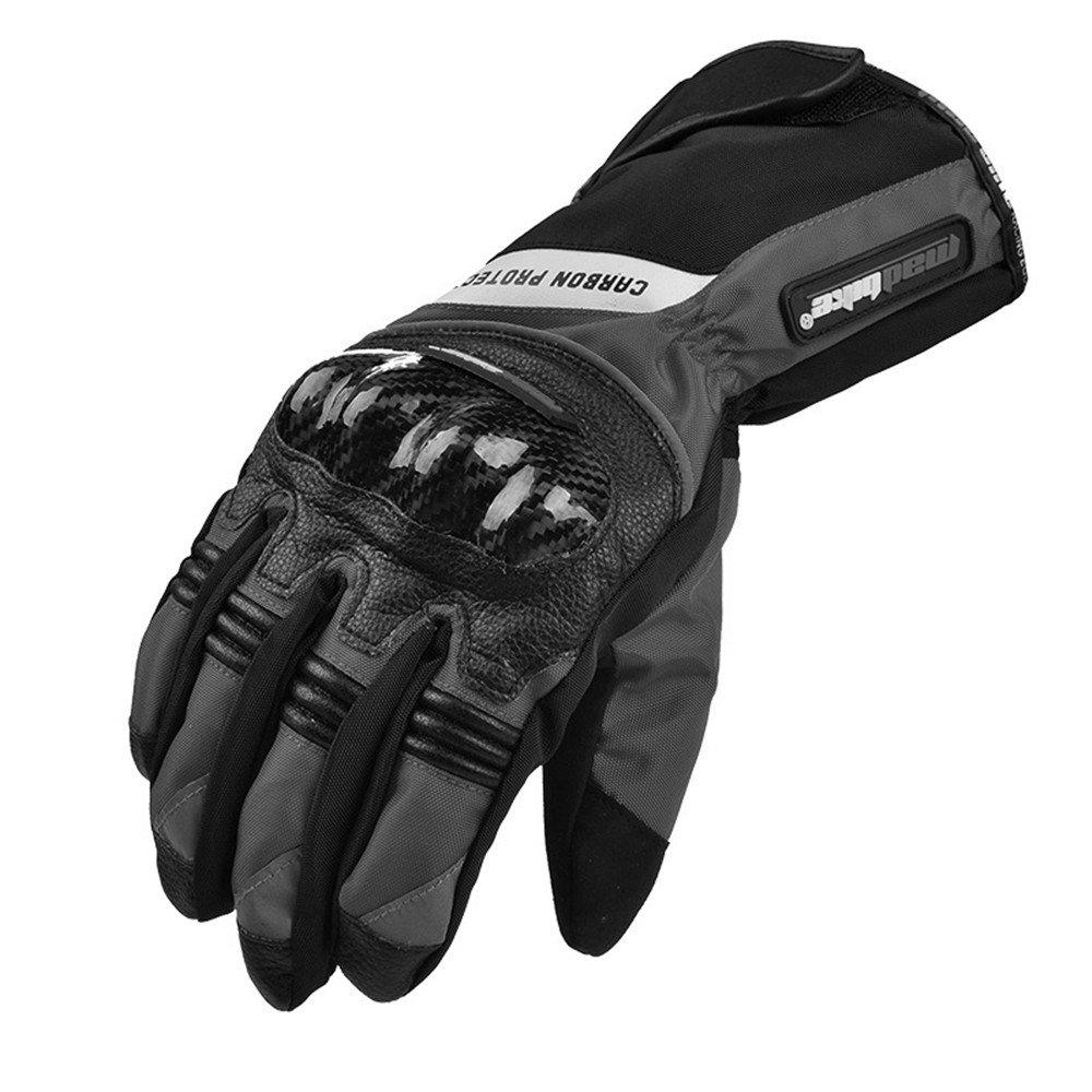 schwarz Medium FDHLTR Kohlefaser-Schutzmotorradfahren, Das Handschuhe Der Männer Laufen Läuft, Mehrfache Farben Handschuhe (Farbe   schwarz, Größe   XL)