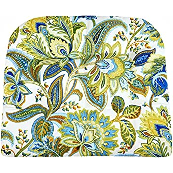 Charming Patio Chair Cushion   Valbella Blue And White Floral   Size Large   Indoor  / Outdoor: Mildew Resistant, Fade Resistant   Wicker Chair, Adirondack Chair