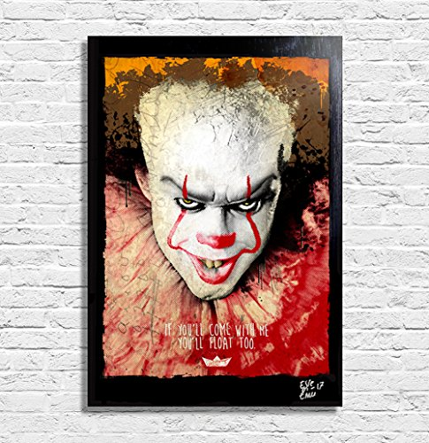 Pennywise the Clown from IT movie  - Pop-Art Original Framed