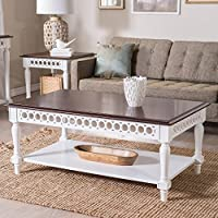 Belham Living Jocelyn Coffee Table - White/Walnut