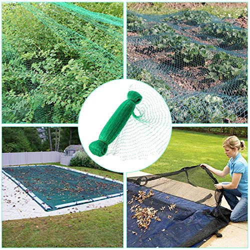 EHIOG Bird Netting, Garden Net Doesn't Tangle and Reusable Fencing Protect Fruit Vegetables from Birds Deer (6.8x33ft)