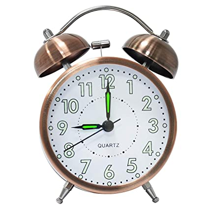 lunaoo Despertador Analogico Silencioso Sin Tictac, Reloj ...