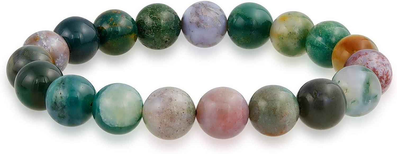 Natural multicolor grande ronda cuenta 12mm strand apilable semi preciosa piedra preciosa estiramiento pulsera para hombres mujeres unisex