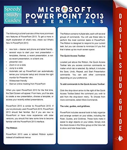 Microsoft Powerpoint 2013 Essentials (Speedy Study Guides) Pdf