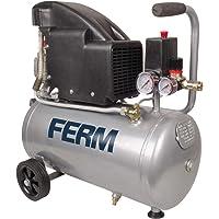 Ferm CRM1045 Compressor - 1,5 PK - 24 liter - Olie - Max. 8 bar - inclusief 1/4 inch Universele koppeling en 2…