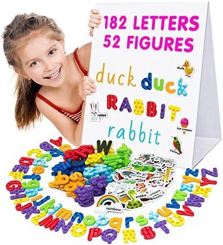 Yaootely Imanes para Refrigerador Letras A-Z de Madera Juguete Educativos para Ninos