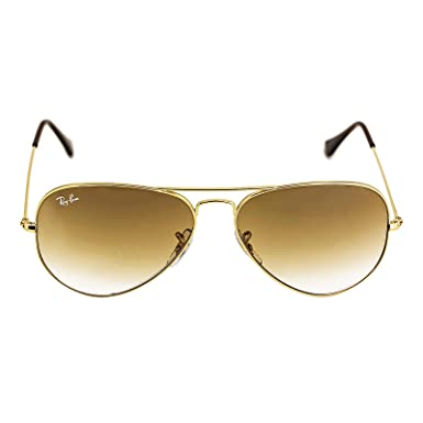 Amazon.com: Ray-Ban AVIATOR LARGE METAL - GOLD Frame PHOTO ORANGE ...
