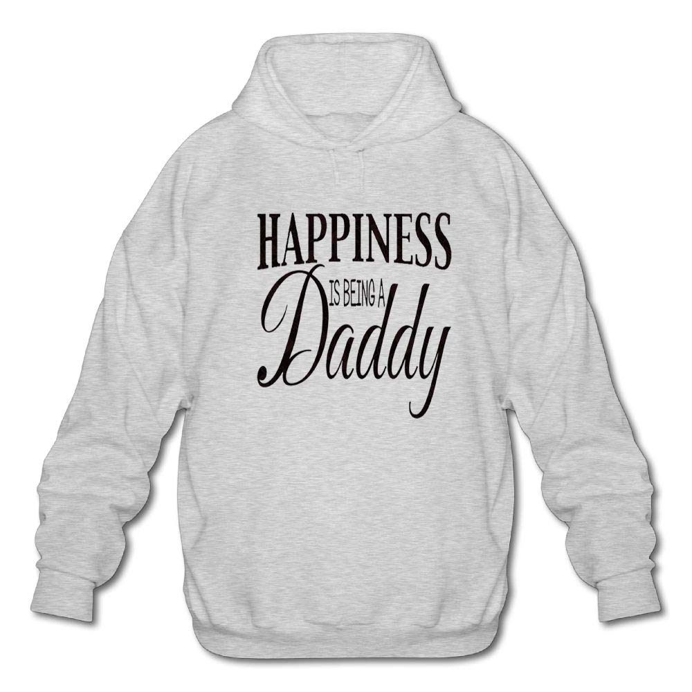 Sweatshirt Mens Long Sleeve Cotton Hoodie Happiness is Being A Daddy
