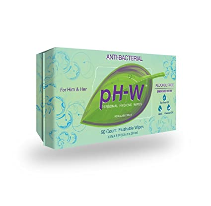 pH-W Personal Hygiene Wipes Natural antibacterial sin alcohol Flushable Toallitas adecuado para el cuerpo