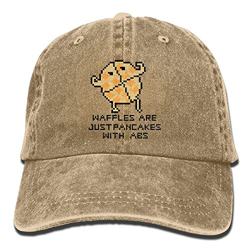 Waffles are Just Pancakes with Abs Caps Flat-Along\r\n Snapback Hat Classic