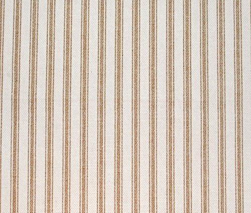 (Mountain Laurel Mercantile Sturdy Cotton Duck Shower Curtain, TUB Size, Tan Stripe)