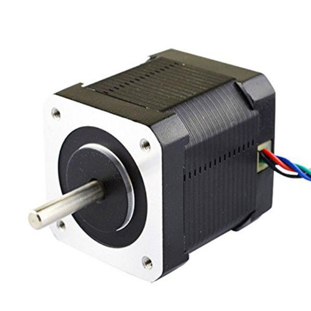 UEETEK Premium Nema 17 Stepper Motor Bipolar 2A 59Ncm(84oz.in) 48mm Body 4-lead for 3D Printer/CNC