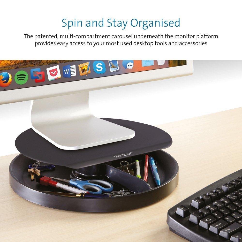 Kensington Spin2 Support Ergonomique pour /Écran avec Rotation 360 Degr/és et Syst/ème SmartFit K52787WW