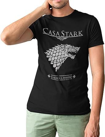 Camisetas La Colmena, 162-Camiseta Juego De Tronos Casa Stark: Amazon.es: Ropa y accesorios