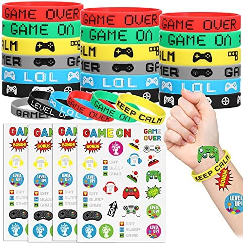 124 Pieces Video Game Party Supplies Party Favors...