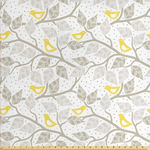 Compare Price Yellow And Gray Upholstery Fabric On