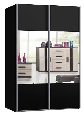 Schwebetürenschrank spiegel schwarz  Schwebetürenschrank, Schiebetürenschrank, ca. 150 cm breit ...