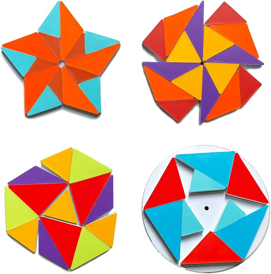 Geometric explore Magnetic Rotating Puzzle Math Game Educational Toy Explorative Thinking Suitable for Family Games