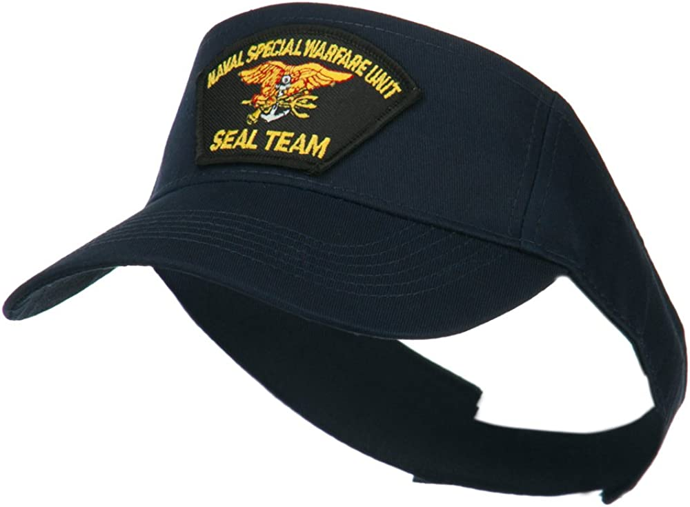 e4Hats.com Naval Special Warfare Unit Seal Team Embroidered Visor