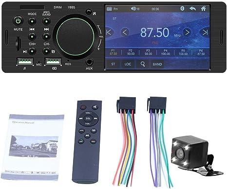 Juman634 Fm Radio Tft 1 Din Auto Touchscreen Radio Stereo Bluetooth Fm Transmitter Mp5 Player Kann An Die Rückfahrkamera Angeschlossen Werden 4 1 Zoll Küche Haushalt