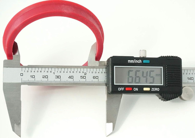 RONAL 1x Zentrierring 76,0-66,45 kompatibel mit Audi Mercedes 76 0 auf 66 45 Karminrot