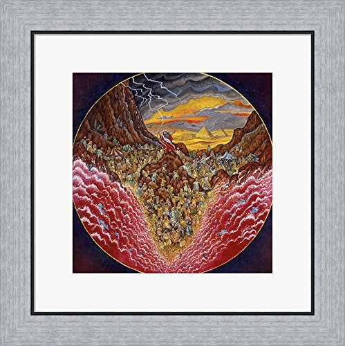 Parting Of The Red Sea by Bill Bell Framed Art Print Wall Picture, Flat Silver Frame, 20 x 20 inches (Parting Of The Red Sea)
