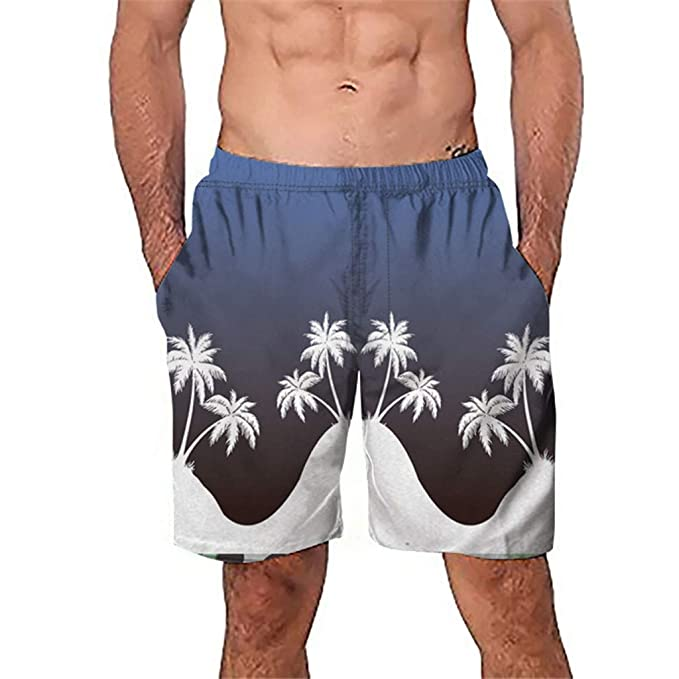 uejnnbc Desert camo Holiday Printed Quick Dry Swimming Trunks Shorts