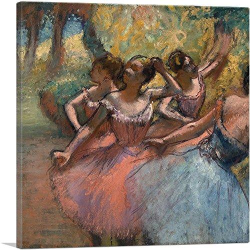 ARTCANVAS Four Ballet Dancers on Stage 1885 Canvas Art Print by Edgar Degas- 18