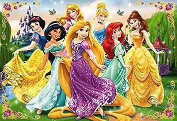 40piece childrens puzzles Disney Princess smile greet children