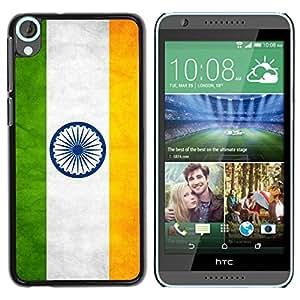Caucho caso de Shell duro de la cubierta de accesorios de protección BY RAYDREAMMM - HTC Desire 820 - India Grunge Flag