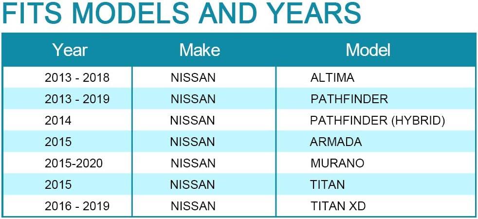 13-19 Pathfinder IRONTEK 1Pair Interior Door Handle for Front//Rear Driver and Passenger Side Fits Nissan 03-18 Altima 2015 Armada 16-19 Titan XD #80670-3TA0D 80671-3TA0D 15-20 Murano