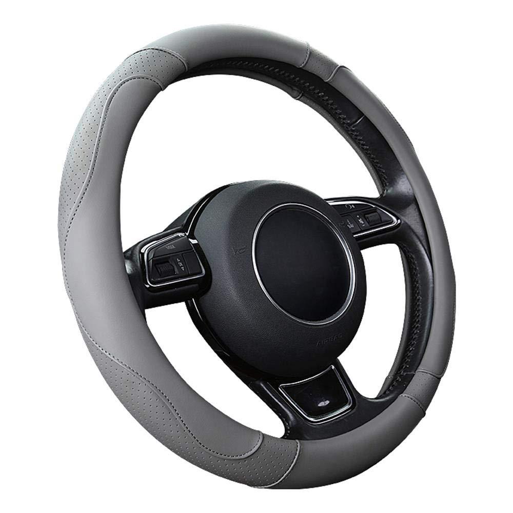 SFONIA Coprivolante per Auto Protezione Custodia Volante Cover in Pelle Microfibra Universale 37-38cm 15 Antiscivolo Traspirante Durevole Marrone