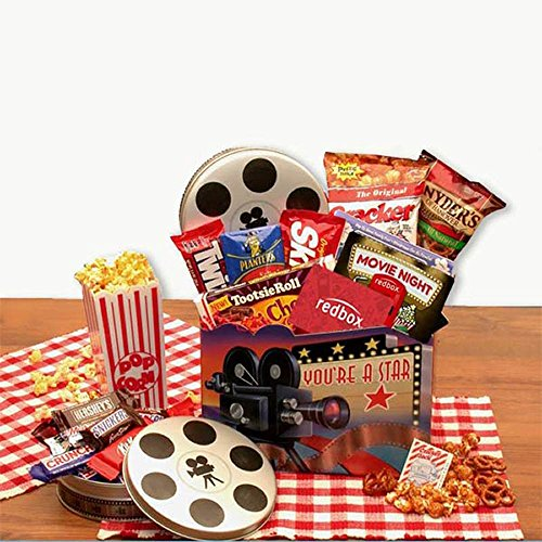 Movie Night Gift Superstar Movie Night Gift Basket w/Redbox Gift Card ()