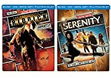Sci-Fi Special Action Steelbook Serenity / Chronicles of Riddick DVD + Blu Ray Double Feature