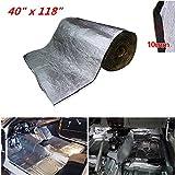 shinehome 394mil 40'' x 118'' 32.29sqft Car Heat Shield Sound Deadener Heat Insulation Mat Soundproof Insulation Sound Deadening Mat Waterproof Flame-retardant