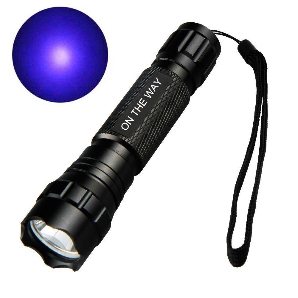 ON THE WAY T6 1000 Lumen WF-501B G60 3W UV Ultraviolet LED Flashlight Torch