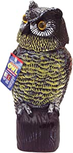 Easy Gardener 8011 Wind Action Owl Garden Defense, 16, 16 Inch Tall