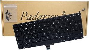 Padarsey New Laptop Replacement Keyboard with 80 PCE Screws Spanish ESPAÑOL Spanish Teclado for MacBook Pro Unibody 13-inch A1278 2008 2009 2010 2011 2012 2013 2014 2015 Year