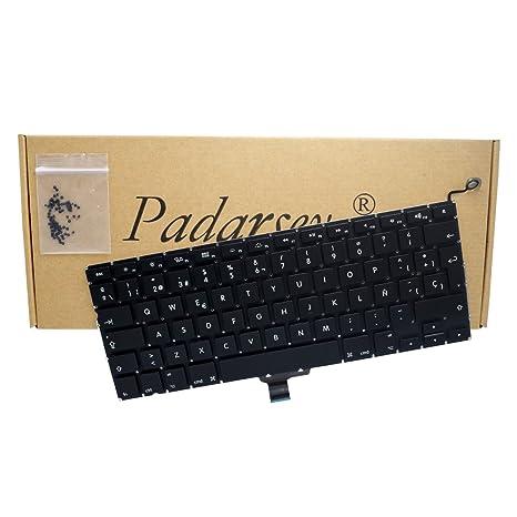 Padarsey New Laptop Replacement Keyboard with 80 pce screws Spanish ESPAÑOL Spanish Teclado for Macbook Pro
