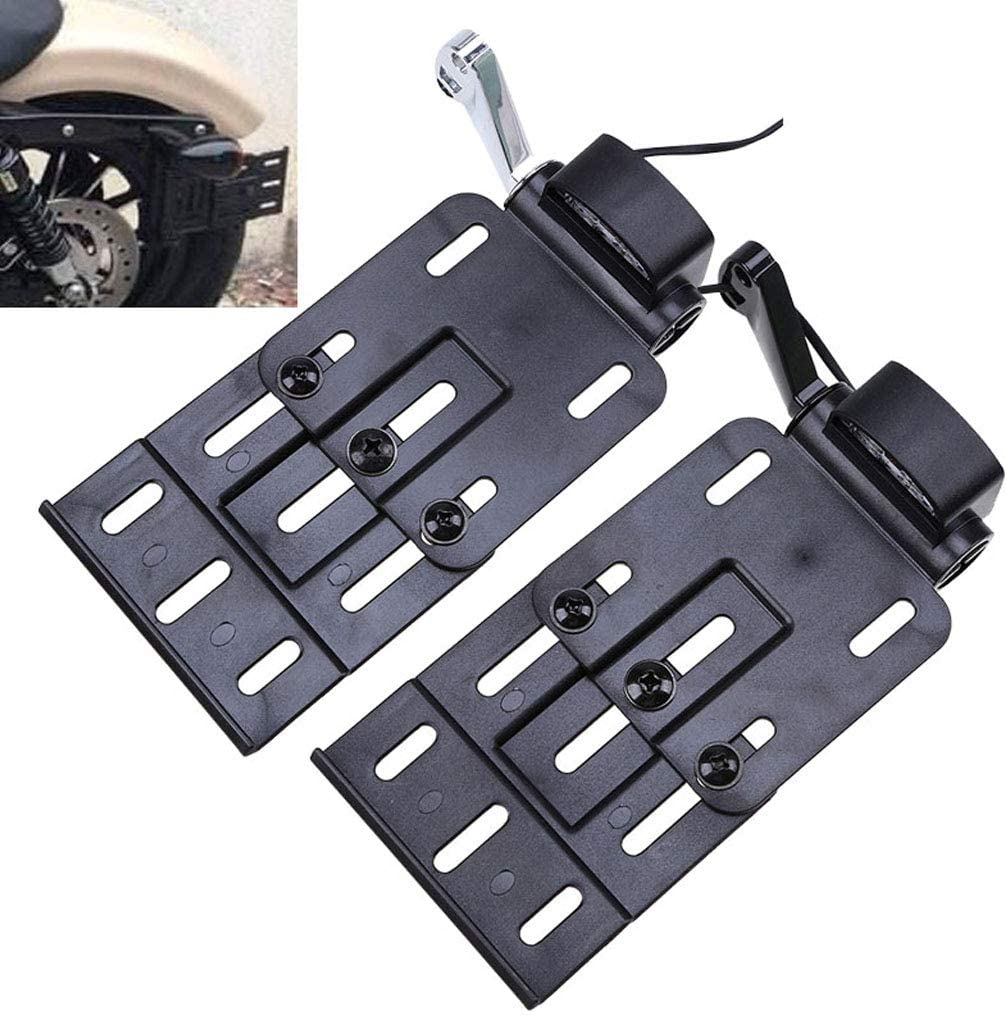 Motorcycle LED Light Side Mount License Plate for Sportster1200 Custom XL1200C 883 XL883 04-19 XL Models Except XL1200T Black