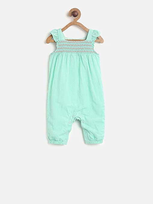 1b72b8aa029 MINIKLUB Girls Romper-Green  Amazon.in  Baby