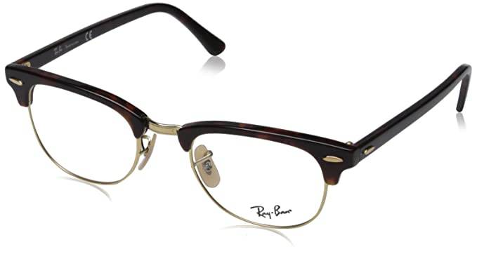 00c0577f3 Amazon.com: Ray Ban frame RX 5154 RX5154 2372 Metal - Acetate Brown ...