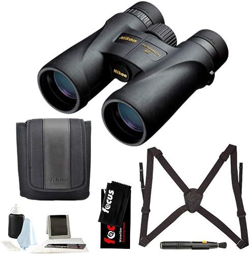 Nikon 7576 Monarch 5 8×42 Waterproof Fogproof Roof Prism Binoculars Bundle with Lens Pen Essential Accessories 5 Items