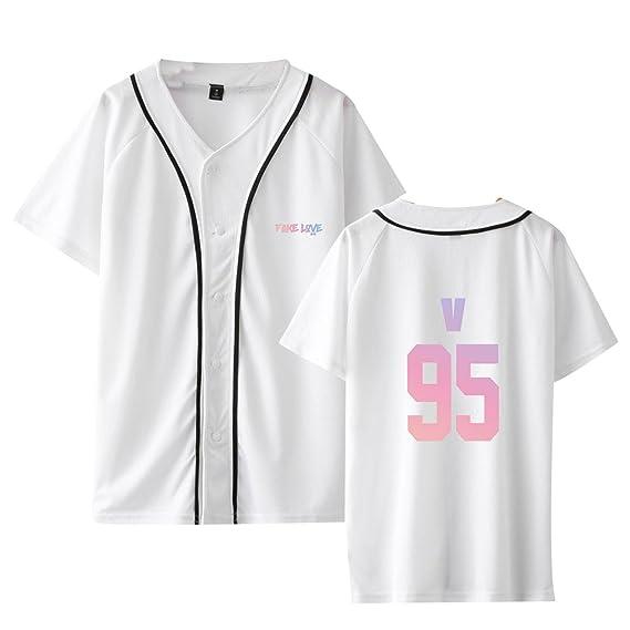 CTOOO 2018 Nuevo álbum De BTS Fake Love Camiseta De Béisbol De Manga Corta para Hombre Y Mujer: Amazon.es: Ropa y accesorios