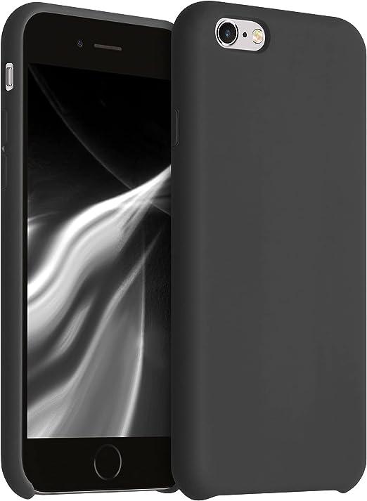 kwmobile Coque en silicone TPU pour Apple iPhone 6 / 6S – Coque de protection fine avec finition douce – Noir