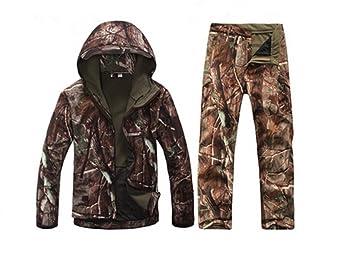 Amazon.com: sportsinn Hombres caza camuflaje ropa Softshell ...