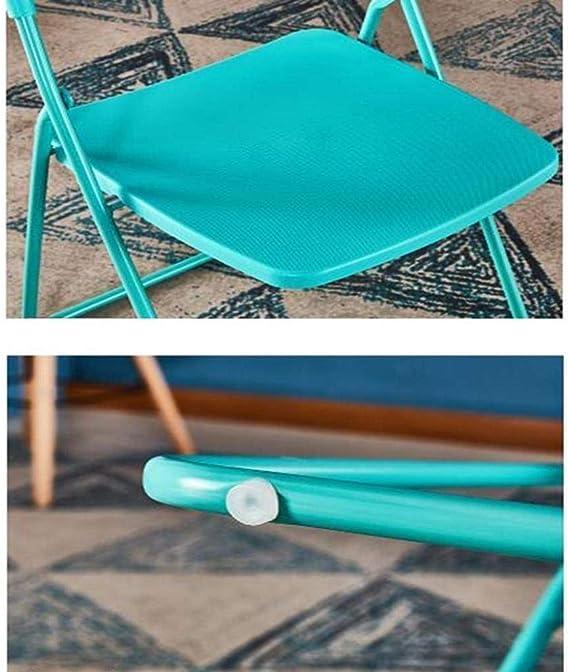 Taburetes, sillas Plegables Plegable Sin Respaldo Plástico ABS Ultraligero Jardín Balcón al Aire Libre Terraza Cocina Duradero Fuerte (Color : Tiffany Blue): Amazon.es: Hogar