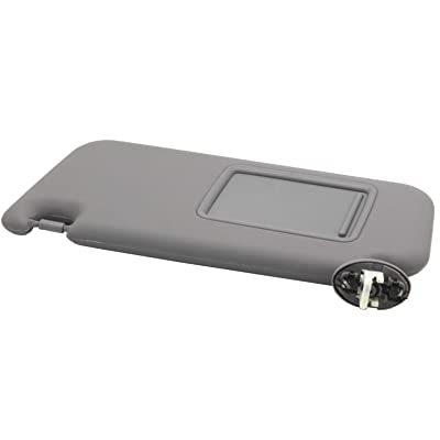 Ezzy Auto Gray Left Driver Side Sun Visor fit for Toyota RAV4 with Sunroof 2006 2007 2008 2009 2010 2011 2012 2013: Automotive