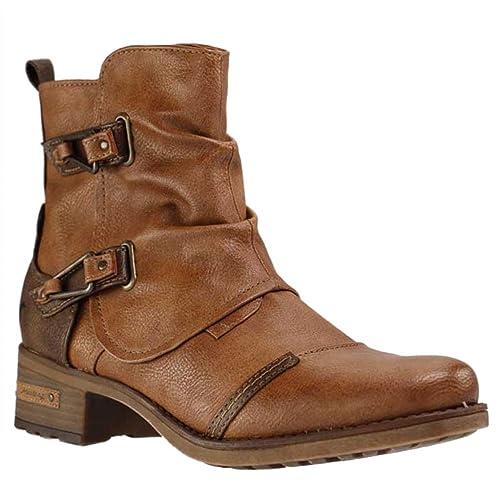 Mustang1229-604-301 - Botines Mujer, Color Marrón, Talla 45: Amazon.es: Zapatos y complementos