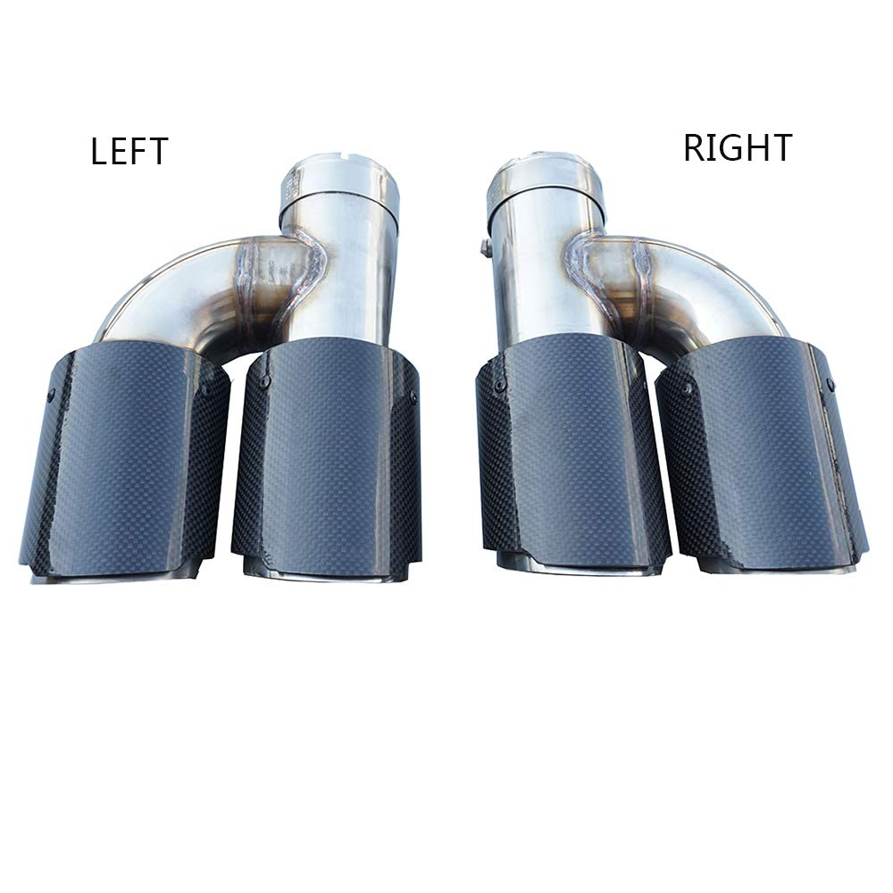 3.5 Outlet h style equal length type Carbon Fiber Exhaust Pipe Muffler Tips-straight edge Inlet 54//57//60//63//66mm Outlet89mm Inlet 63mm Outlet 89mm, RIGHT SIDE
